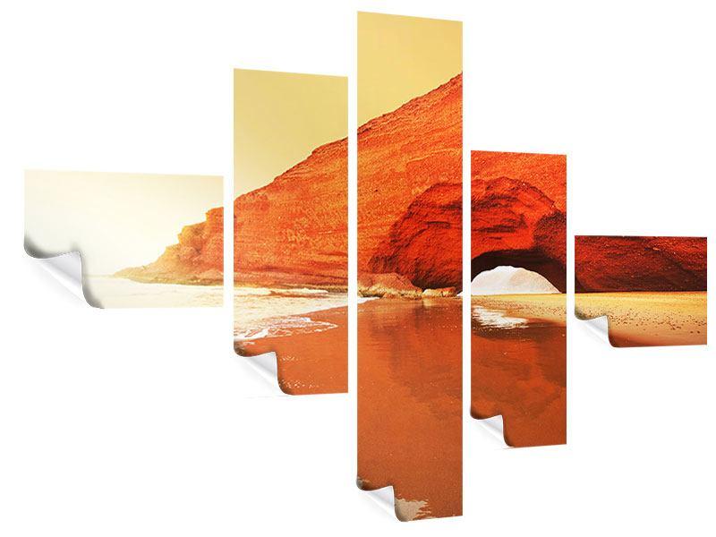 Poster 5-teilig modern Wasserspiegelung