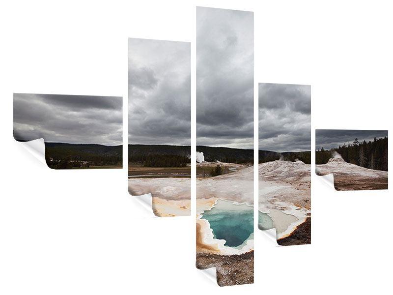 Poster 5-teilig modern Vulkan