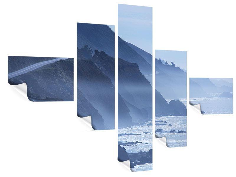 Poster 5-teilig modern Bewegung im Wasser
