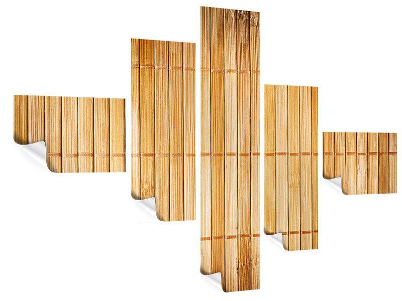 Poster 5-teilig modern Bambusrohre