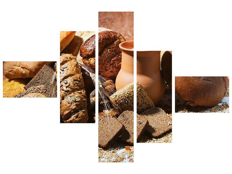 Poster 5-teilig modern Frühstücksbrote