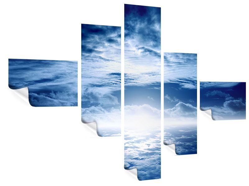 Poster 5-teilig modern Mystischer Himmel