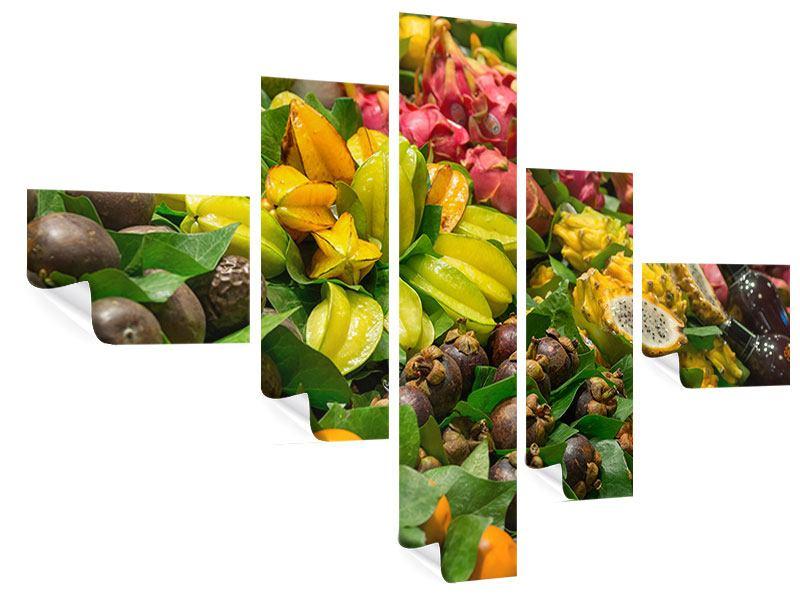 Poster 5-teilig modern Früchte