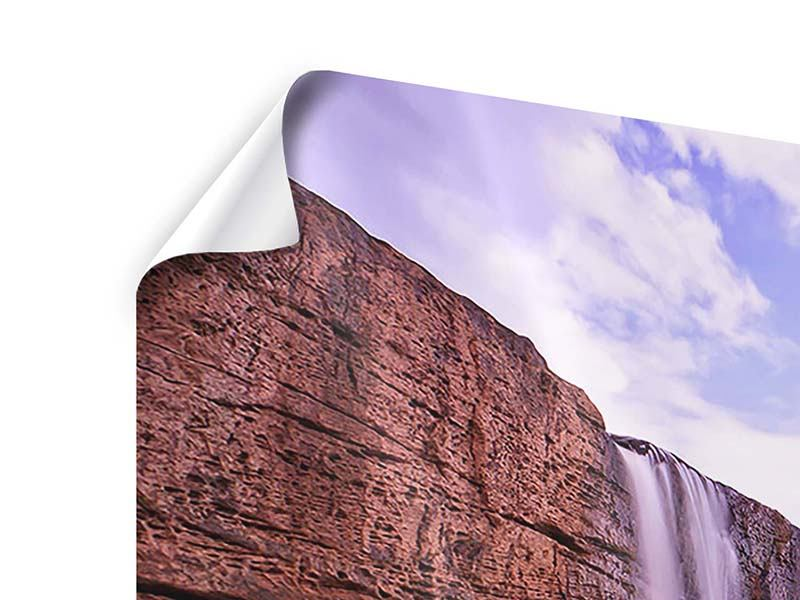 Poster 5-teilig modern Himmlischer Wasserfall