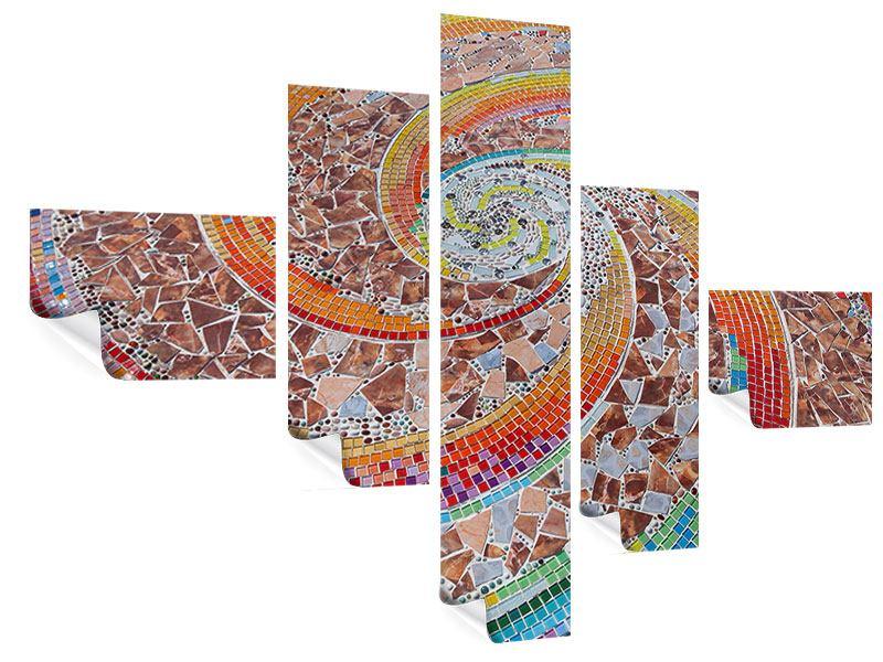 Poster 5-teilig modern Mosaik