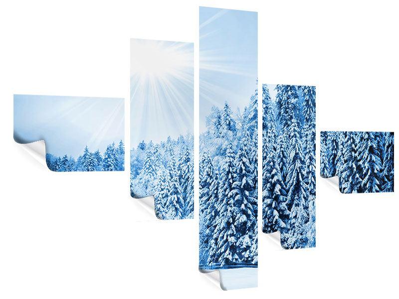 Poster 5-teilig modern Wintermärchen