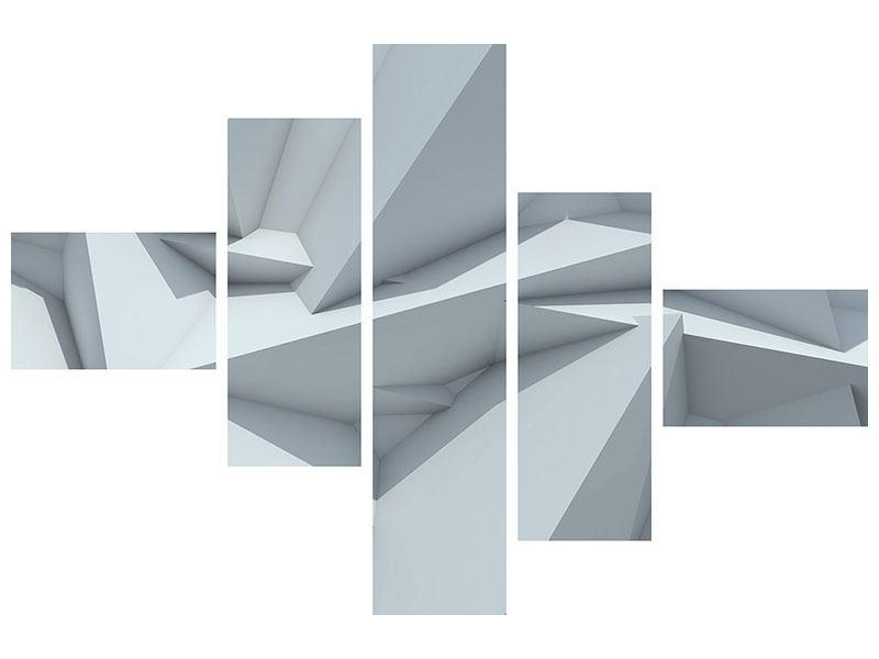 Poster 5-teilig modern 3D-Kristallo