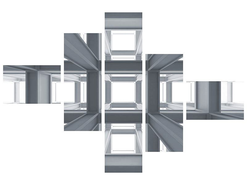 Poster 5-teilig modern Räume