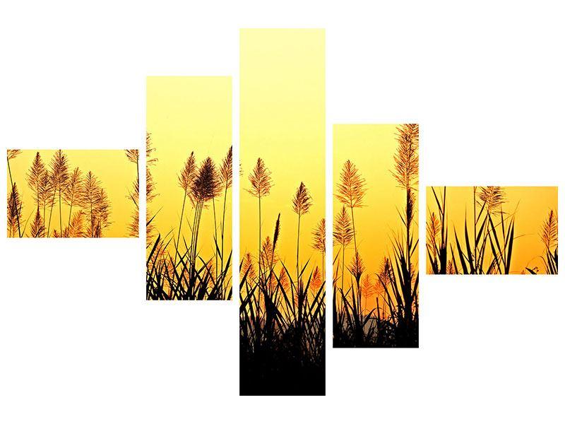 Poster 5-teilig modern Die Blumen des Feldes