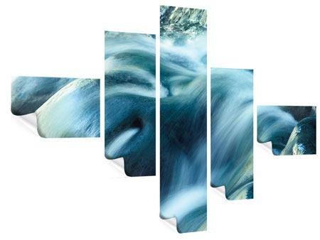 Poster 5-teilig modern Das Fliessende Wasser