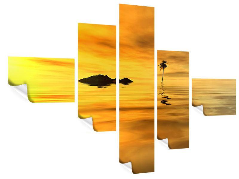Poster 5-teilig modern Ab auf die Insel