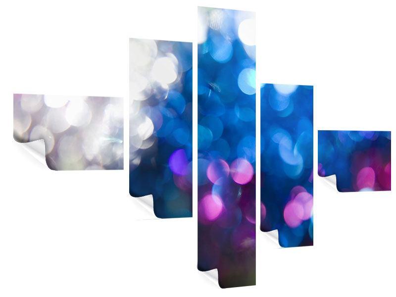 Poster 5-teilig modern Abstraktes Licht