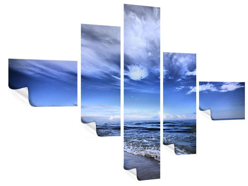Poster 5-teilig modern Strandwellen
