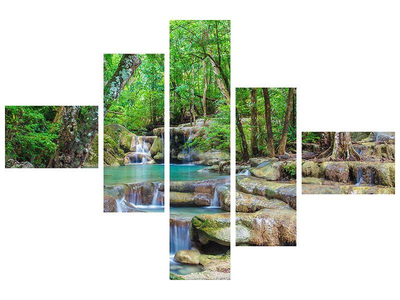 Poster 5-teilig modern Wasserspektakel