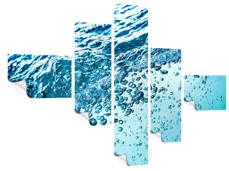 Poster 5-teilig modern Wasser in Bewegung