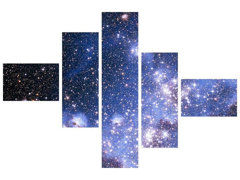 Poster 5-teilig modern Sternenhimmel
