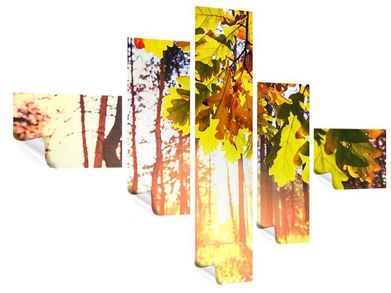 Poster 5-teilig modern Herbst