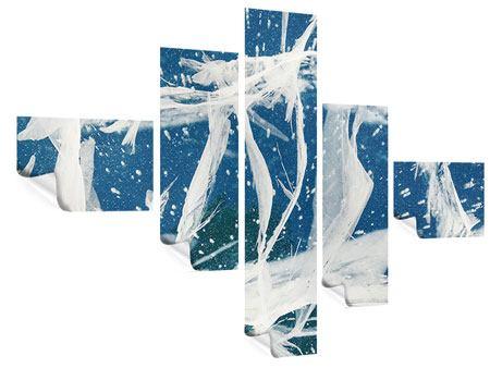 Poster 5-teilig modern Eiskristalle