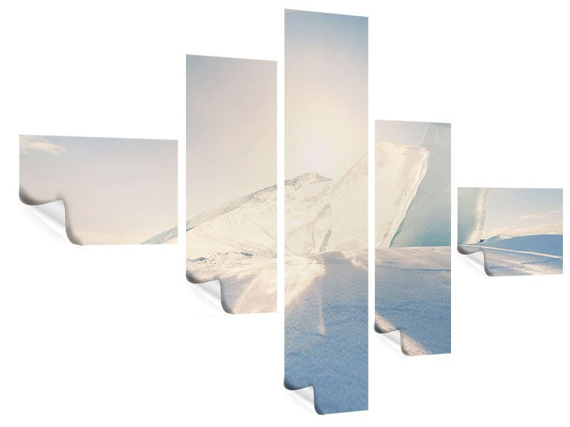 Poster 5-teilig modern Eislandschaft