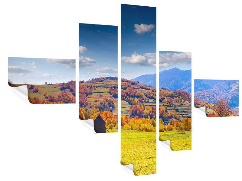 Poster 5-teilig modern Herbstliche Berglandschaft