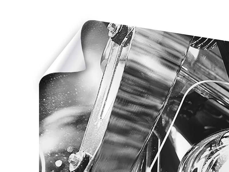 Poster 5-teilig modern Motorrad Close Up