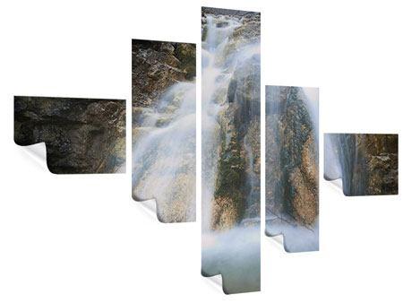 Poster 5-teilig modern Imposanter Wasserfall