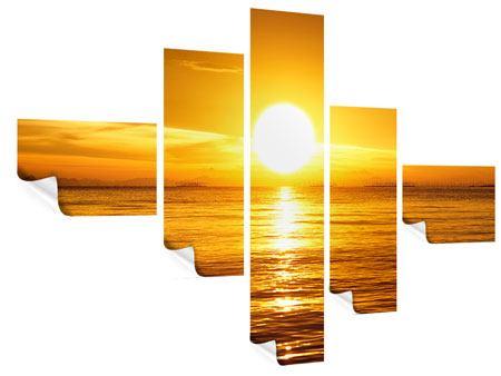Poster 5-teilig modern Traumhafter Sonnenuntergang