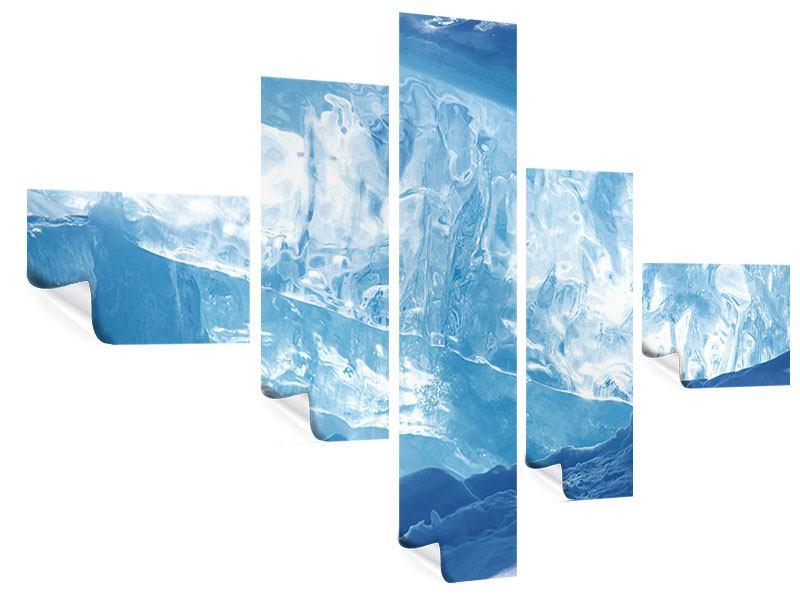 Poster 5-teilig modern Baikalsee-Eis