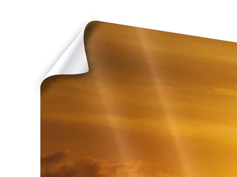 Poster 5-teilig modern Sonnenuntergang See