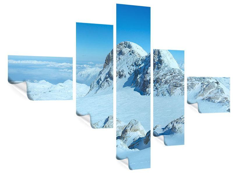 Poster 5-teilig modern Über den Wolken