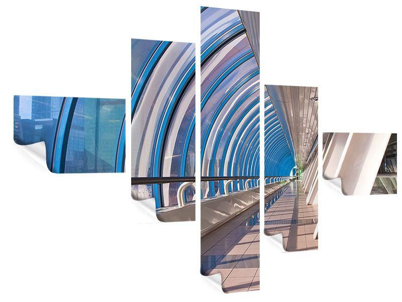Poster 5-teilig modern Hypermoderne Brücke