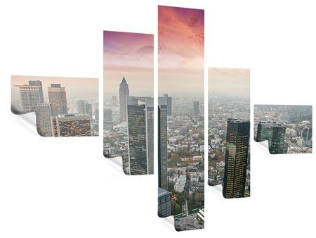 Poster 5-teilig modern Skyline Penthouse in New York