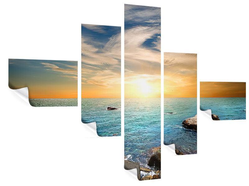 Poster 5-teilig modern Meerwasser