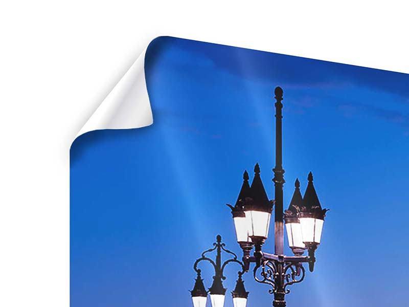 Poster 5-teilig modern Pont De Pierre bei Sonnenuntergang