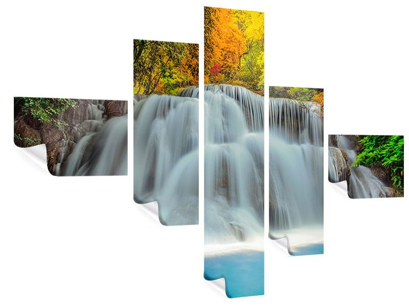 Poster 5-teilig modern Fallendes Gewässer