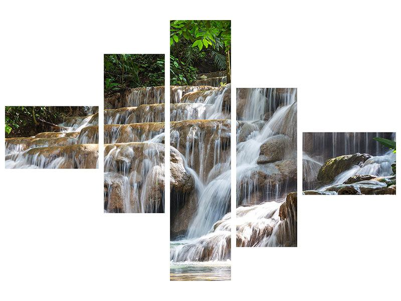 Poster 5-teilig modern Mexikanischer Wasserfall