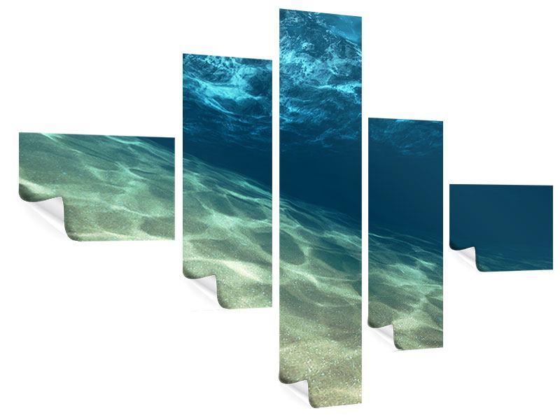 Poster 5-teilig modern Unter dem Wasser