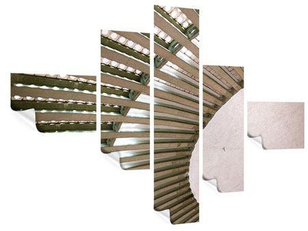 Poster 5-teilig modern Abstraktes Rad