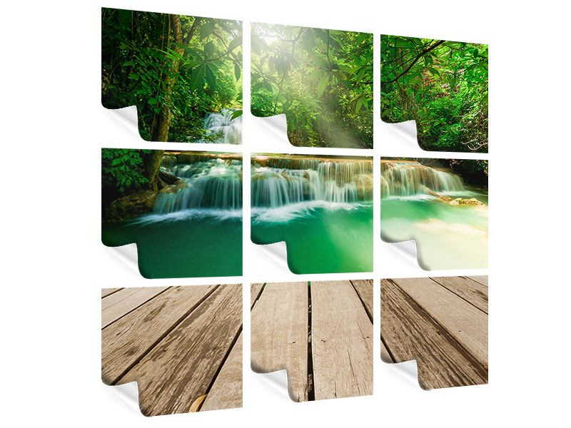 Poster 9-teilig Wasserfall Thailand