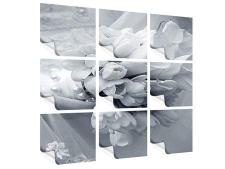 Poster 9-teilig Romantisches Tulpenbukett