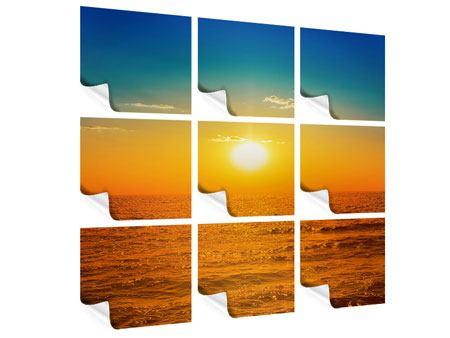 Poster 9-teilig Das Meer im Sonnenuntergang