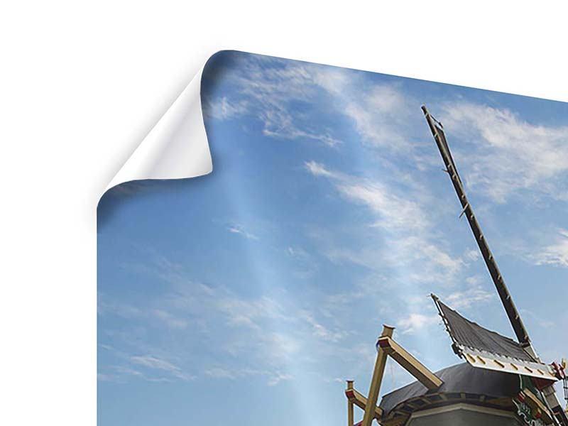 Poster 9-teilig Die Windmühle mit den Tulpen