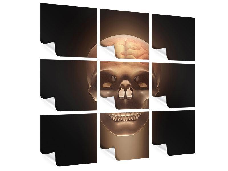 Poster 9-teilig Schädel