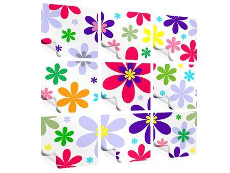 Poster 9-teilig Retromode Blumen