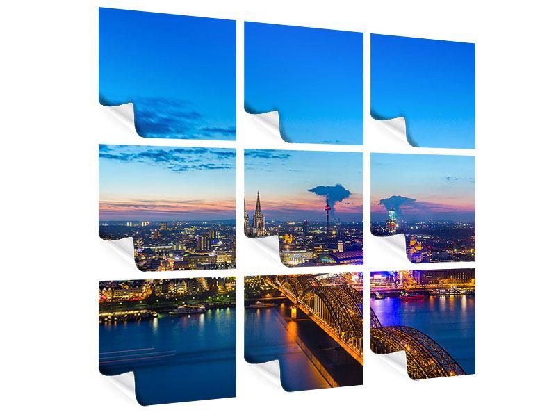 Poster 9-teilig Skyline Ein Penthouse in Köln