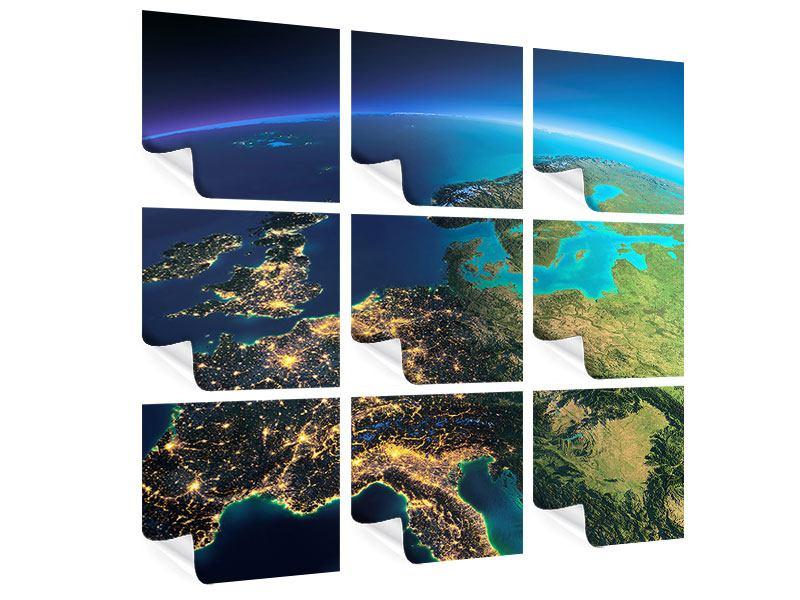 Poster 9-teilig Close Up Planet Erde