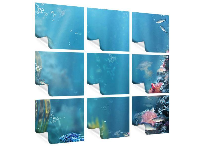 Poster 9-teilig Unter Wasser