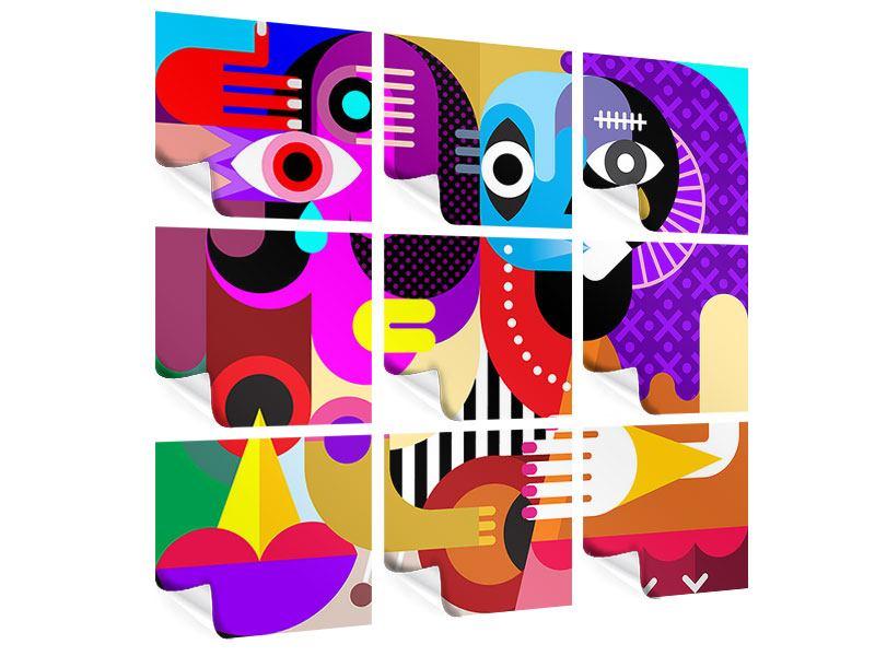 Poster 9-teilig Moderne Kunst People