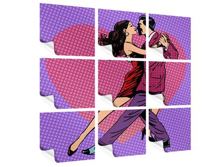 Poster 9-teilig Pop Art Lambada