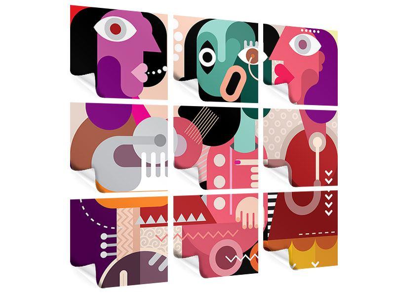 Poster 9-teilig Moderne Kunst Frauen